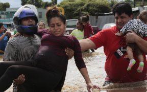 """Ríos en Tabasco y Chiapas superan niveles de desbordamiento a causa de """"Eta"""""""