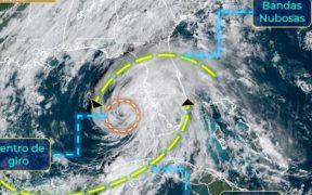 'Eta' se fortalece y se convierte en huracán categoría 1; provocará lluvias en Yucatán