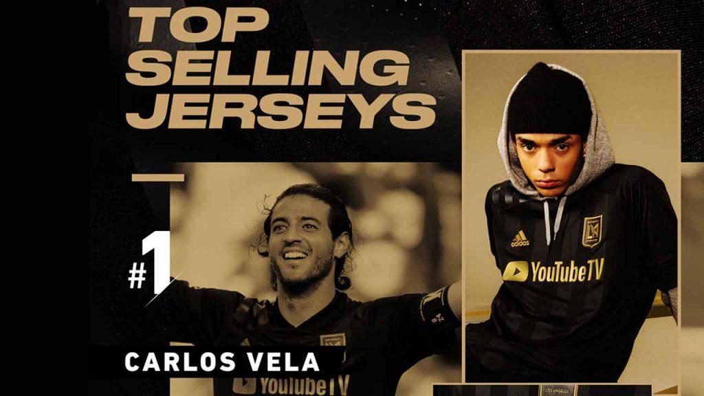 Carlos Vela superó a Chicharito en la lista de playeras más vendidas de la MLS.