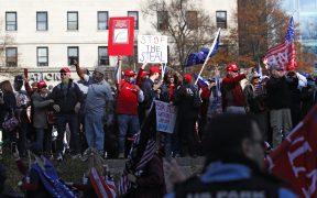 """Realizan la """"marcha del millón"""" a favor de Trump frente a la Casa Blanca"""