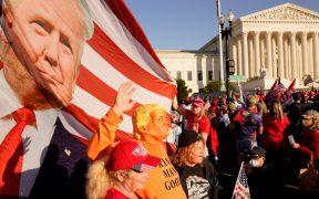 Protesta a favor de Trump deja 20 personas detenidas y un lesionado