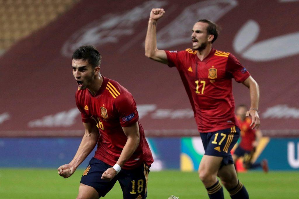 Ferrán Torres fue la figura en la goleada 6-0 de España sobre Alemania, con un triplete.