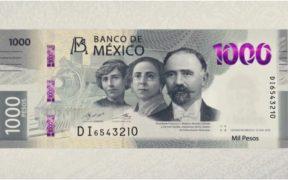 Banxico pone a tres revolucionarios en el nuevo billete de mil pesos