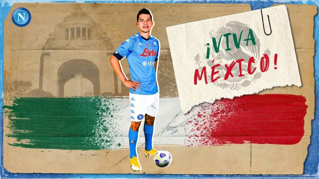 El Napoli presumió al 'Chucky' Lozano como el líder de la 'Revolución' del futbol mexicano.
