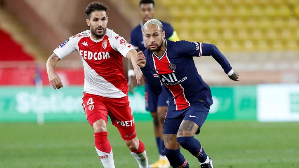 Neymar reapareció con el PSG, pero no evitó la remontada del Mónaco, orquestada por Cesc Fábregas.