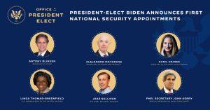 Parte de los integrantes del gabinete del presidente electo de EU, Joe Biden.