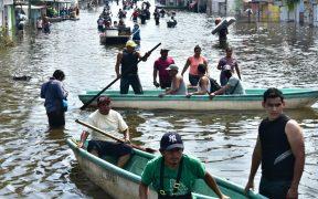 Evacúan poblaciones en Tabasco tras desborde del río Usumacinta, el más caudaloso de México