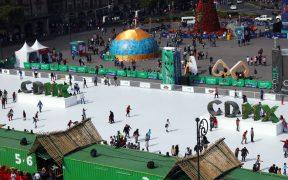 Este año no habrá pista de hielo en el Zócalo, por pandemia