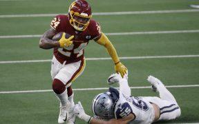 Antonio Gibson anotó tres TD y fue fundamental para el triunfo de Washington sobre los Cowboys.