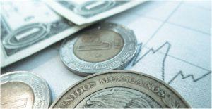 Peso cierra la semana en 20.05 unidades por dólar; BMV cae por toma de utilidades