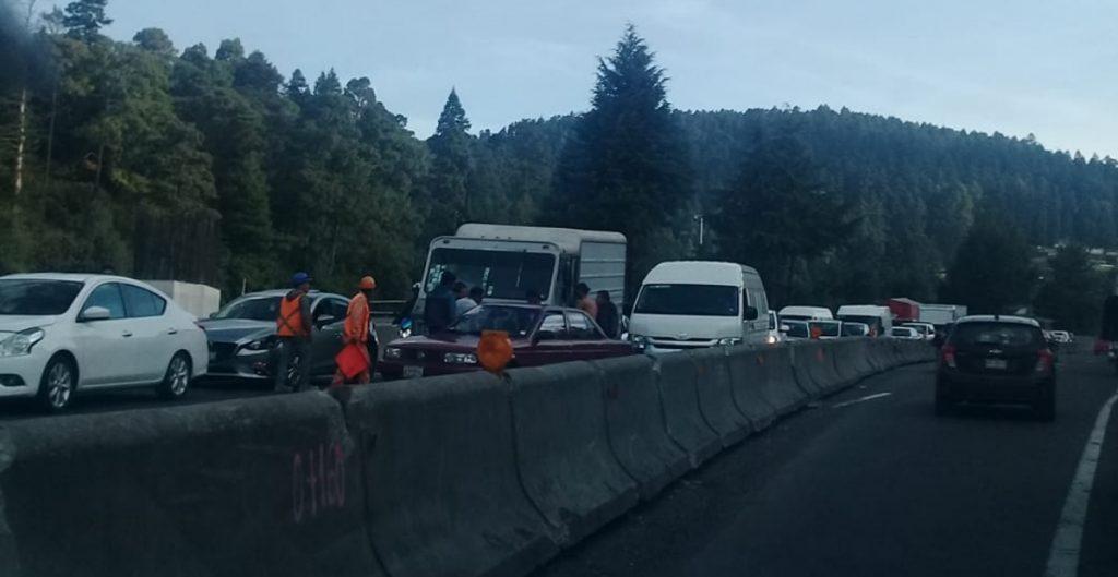 A partir de mañana, suspenderán un tramo de la carretera México-Toluca, informó la SCT