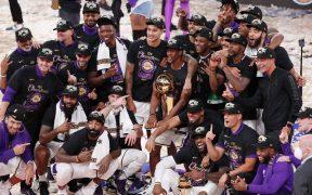 Los Lakers de Los Ángeles jugarán el partido estelar el Día de Navidad ante los Mavericks. Foto: EFE.