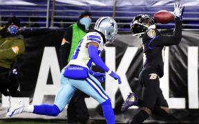 Los Ravens terminaron su mala racha con un triunfo sólido sobre los Cowboys. Foto: Reuters.
