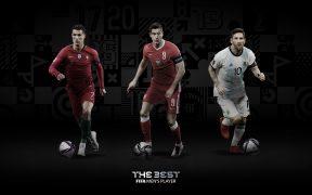 Lewandowski, Cristiano Ronaldo y Messi son candidatos a ganar el premio The Best. Foto: @FIFAcom