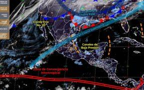 Frente frío 20 provocará descenso en las temperaturas