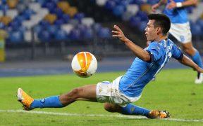 El Chucky Lozano y el Napoli enfrentarán al Granada en la Europa League. Foto: EFE