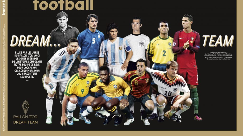 El Dream Team del Balón de Oro, elegido por la revista France Football. Foto: @francefootball