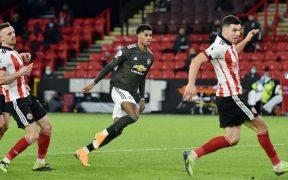 Marcus Rashford marcó dos goles en la remontada del Manchester United sobre Sheffield. Foto: Reuters