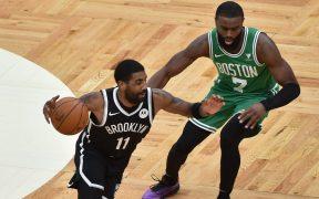 Irving regresó a Boston para un juego de pretemporada con los Nets. Foto: AP