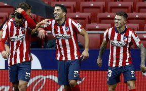 Luis Suárez reapareció con el Atlético y marcó un doblete ante el Eibar. Foto: EFE