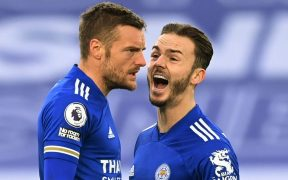 El Leicester celebra el empate ante el Manchester United. Foto: Reuters