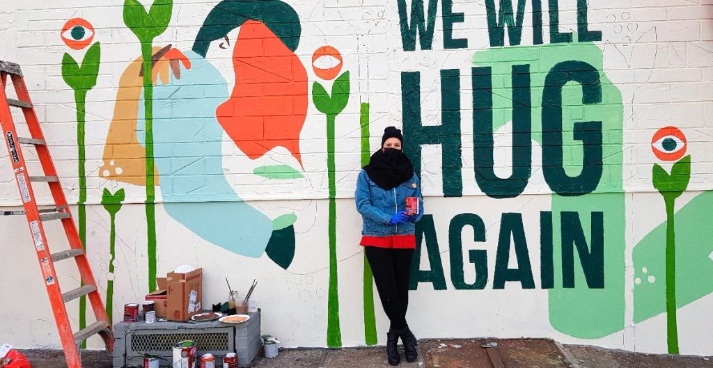 Un mural en Nueva York sobre la ilusión del fin de la pandemia
