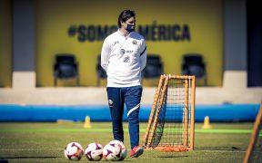 Santiago Solari dirigió su primera práctica al frente del América. Foto: Club América