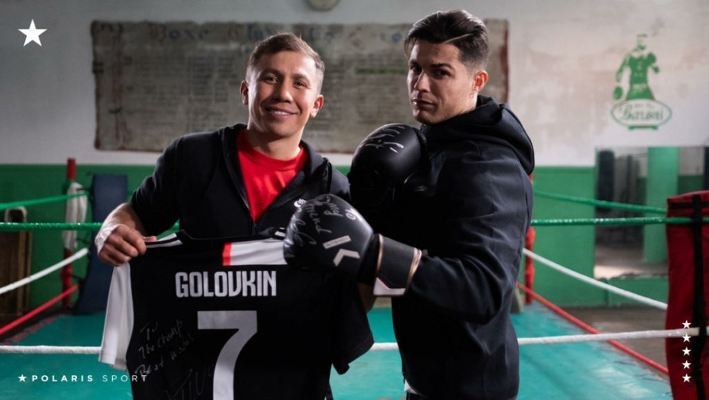 Cristiano Ronaldo habló de Ruiz en el documental junto a Golovkin. Foto: @polarissports
