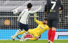 Son marca el segundo gol del Tottenham ante el Brentford. Foto: EFE