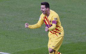 Messi volvió a ser fundamental para el triunfo del Barcelona, con un doblete al Athletic. Foto: EFE