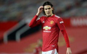 Edinson Cavani, delantero del Manchester United. Foto: Reuters