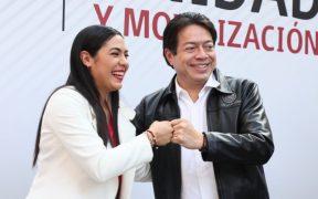 Arrojan huevos contra Mario Delgado y candidata de Morena al gobierno de Colima