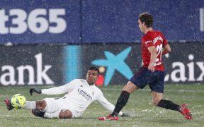 El Real Madrid empató 0-0 en la cancha congelada de El Sadar. Foto: Real Madrid