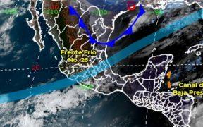 SMN pronostica ambiente de muy frío a gélido y lluvias en gran parte del país