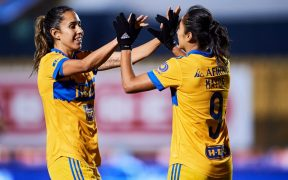 Tigres Femenil estrenó su corona con goleada frente al Pachuca. Foto: Mexsport
