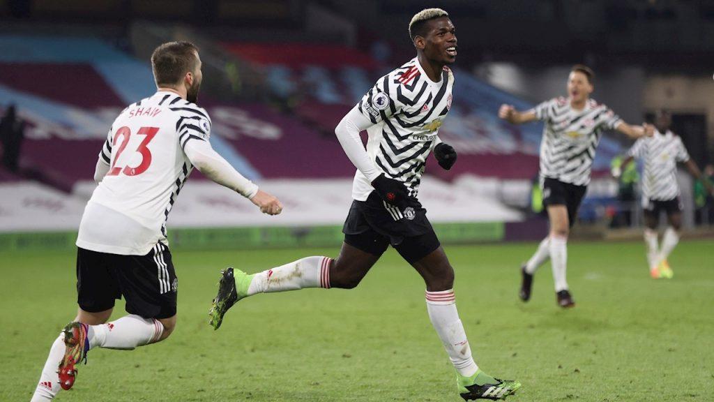 Paul Pogba celebra el golazo frente al Burnley. Foto: EFE