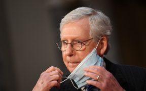 No hay posibilidad de que concluya un juicio justo antes de Trump deje la presidencia, afirma McConnell