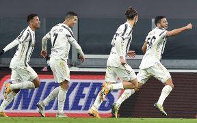 Hamza Rafia celebra el gol del triunfo de Juventus sobre el Génova. Foto: EFE
