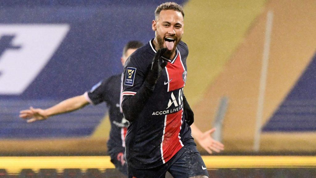 Neymar celebra el gol del triunfo del PSG sobre Marsella. Foto: Reuters.