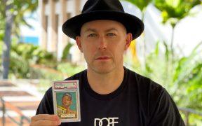 Rob Gough compró la tarjeta de Mantle en 5.2 millones de dólares. Foto: @indystar