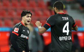 El Bayer Leverkusen celebra su triunfo sobre el Borussia Dortmund. Foto: EFE