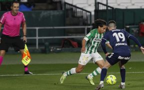 Diego Lainez, en una acción con el Betis. Foto: EFE