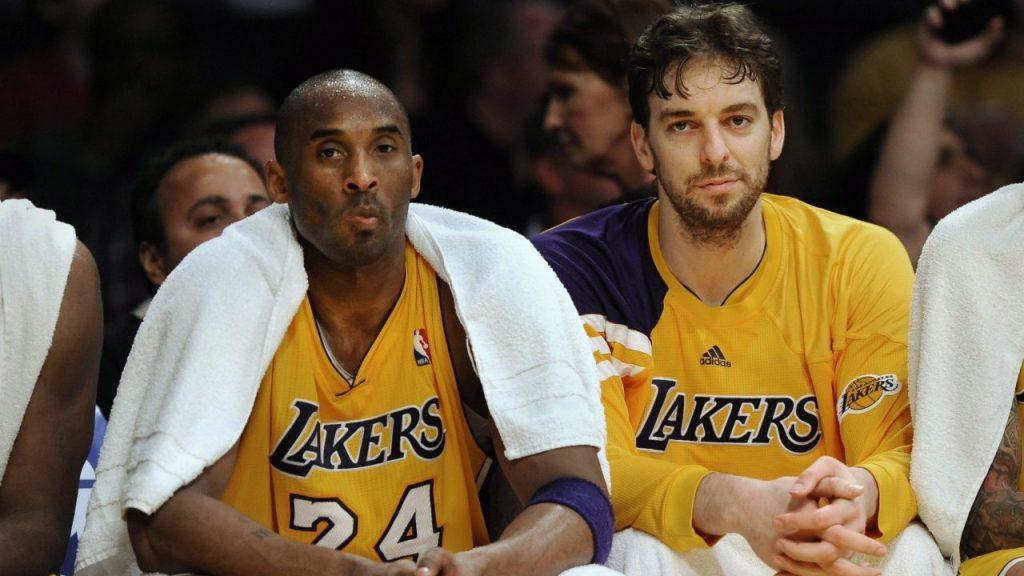 """Paul Gasol recordó a su """"hermano"""" Kobe a un año de su muerte. Foto: EFE"""