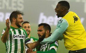 Borja Iglesias le dio al Betis el pase a cuartos de final de la Copa del Rey. Foto: EFE