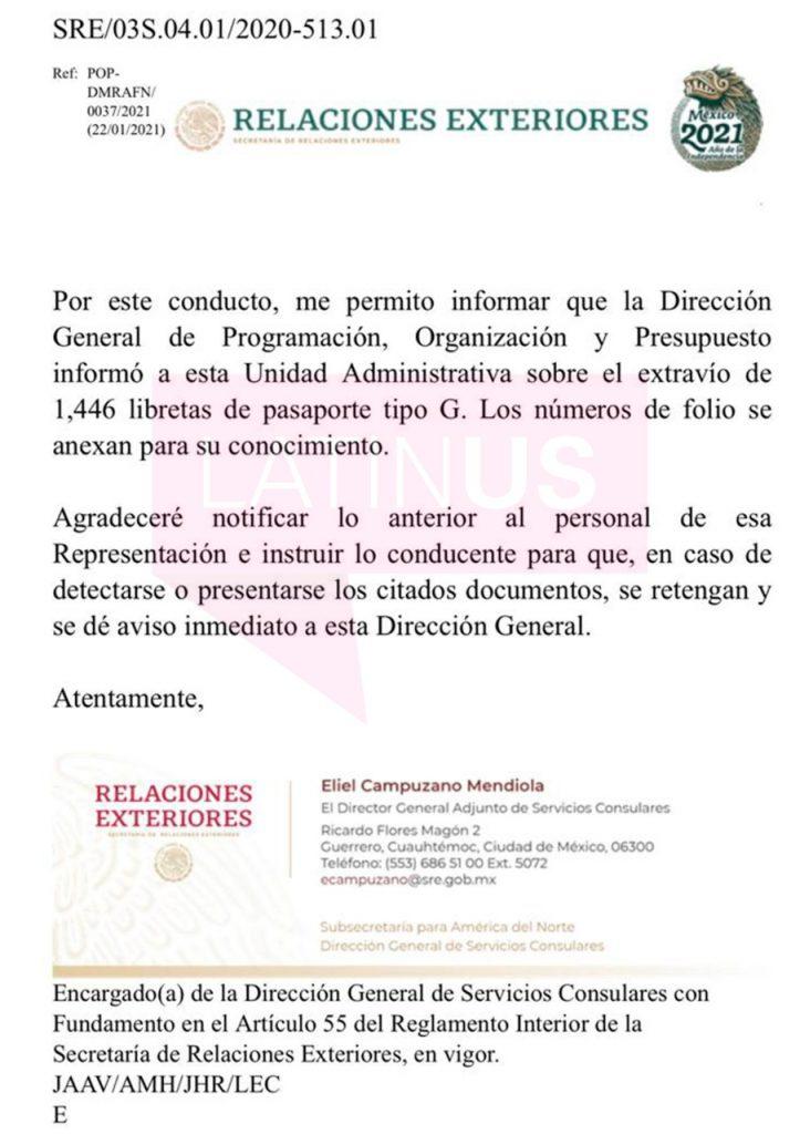 """La Cancillería """"pierde"""" 1446 pasaportes en blanco"""