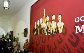 Ayuntamiento de Culiacán revela mural con Hidalgo, Juárez… y AMLO