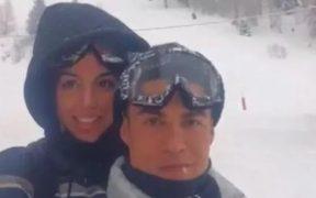 Cristiano celebró el cumpleaños de su novia con un paseo por la nieve. Foto: Lastampa.it