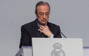 Florentino Pérez, presidente del Real Madrid, dio positivo a COVID-19. Foto: EFE