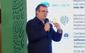 Pfizer reanudará la entrega de vacunas a México el 14 de febrero: Ebrard