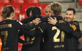 El Barcelona resolvió la eliminatoria en tiempo extra. Foto: EFE
